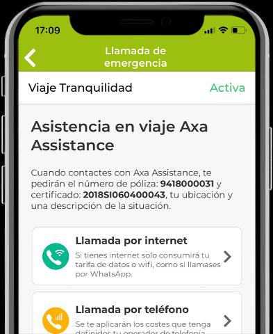 Llamada de emergencia via Wifi